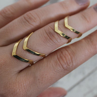 Double Layer Midi Ring