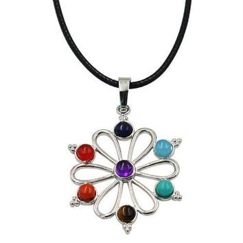 Hinduism Mandala Zen Tree Of Life Healing Reiki Meditation 7 Chakras Necklaces&Pendants Yoga Jewelry collier femme  bijoux Women style12
