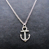 ancient vintage style silvery anchor pendant adjustable necklace  cool necklace B82