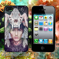 Oliver Sykes Skull Head,Accsessories,Case,Cell Phone,iPhone 4/4S,iPhone 5/5S/5C,Samsung Galaxy S3,Samsung Galaxy S4,Rubber/1112Q7