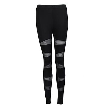 Mesh Panels Yoga Leggings
