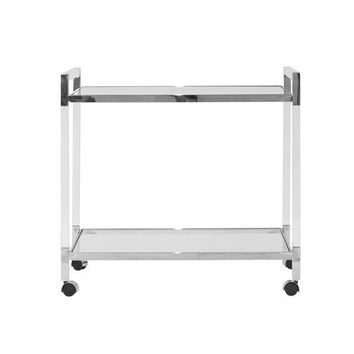 Archie Acrylic Bar Cart | Nickel
