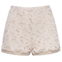 Jessica Faulkner Vandy Cream Knit Shorts