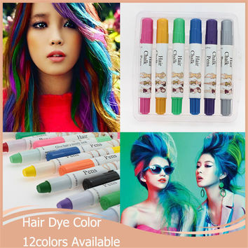 1pcs/lot Hair Dye Color Women Sexy Easy Temporary Non-toxic Pastel Hair Chalk Dye Hair Extension Kit Hair Color Mutlicolor