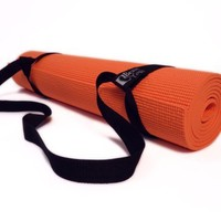 Bean Yoga Mat Sling Harness, Extra Long. Simple Looped Carry Strap (Sling Only) Recycled Polyester or Cotton Webbing
