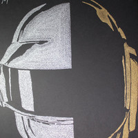 Daft Punk Poster - 24x36 - Custom Handmade with Lyrics