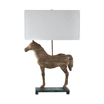 590 Carved Horse Table Lamp