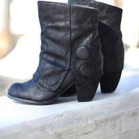 Crazy Crinoline Black Booties