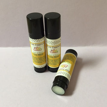 All Natural Peppermint Lip Balm - Shea Butter Natural Moisturizing Lip Balm  PureEssencebathnBody