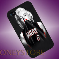 Marilyn Monroe NBA - Photo Print for iPhone 4/4s, iPhone 5/5C, Samsung S3 i9300, Samsung S4 i9500 Hard Case