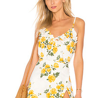 L'Academie The Flora Top in Yellow Rose | REVOLVE
