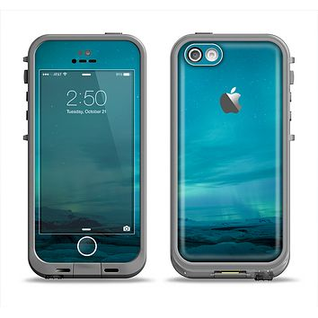The Teal Northern Lights Apple iPhone 5c LifeProof Fre Case Skin Set