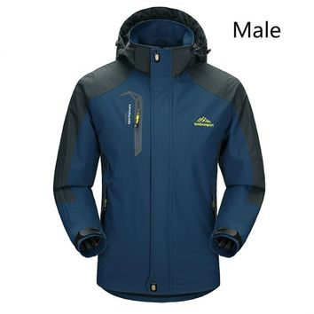 2017 New Spring Autumn Men and Women Softshell Hiking Jackets Outdoor Camping Trekking Climbing Coat For Waterproof Windproof