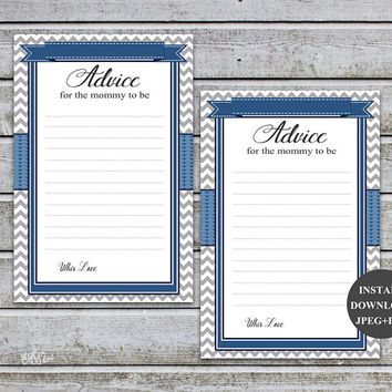 Advice for Mommy to Be Advice for New Mommy Advice For Mommy To Be Boy Baby Shower Games Mom Advice Printable Instant Download (57b)