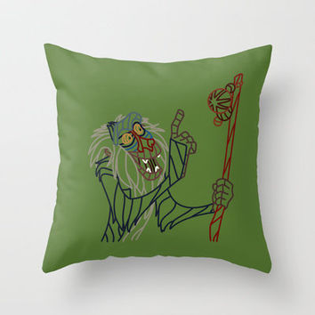 Rafiki - Disney's The Lion King Throw Pillow by DanielBergerDesign