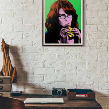 Liz Lemon, 30 Rock Print, Pop Art Portrait, Printable Wall Art,Andy Warhol Art,Tina Fey,Digital Download Art,Instant Download,Wall Art Print