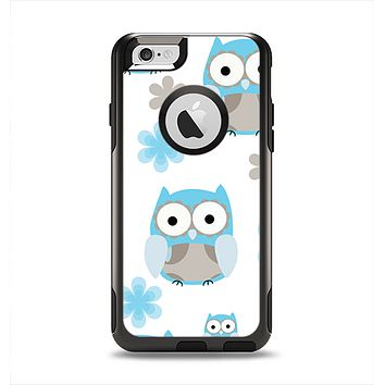 The Subtle Blue Cartoon Owls Apple iPhone 6 Otterbox Commuter Case Skin Set