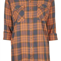 Checked Shirt - Orange