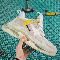 Balenciaga Triple S Clear Sole Trainers Grey - Best Online Sale