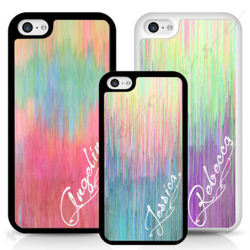 ART PERSONALISED INITIALS NAME PRINTED HARD PHONE CASE, COVER FOR IPHONE SAMSUNG | eBay