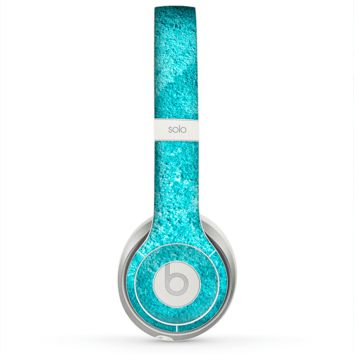 The Vibrant Blue Cement Texture Skin for the Beats by Dre Solo 2 Headphones