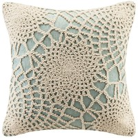 Crochet Pattern Aqua Throw Pillow