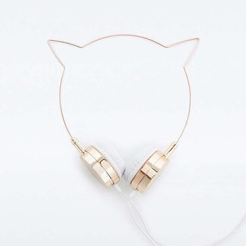 Skinnydip x Zara Martin Rose Gold Kitty Headphones - Urban Outfitters