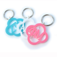 greek acrylic key chain - customize it!