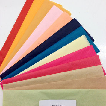 Tissue Paper Swatches ... Choose up to 10 colors