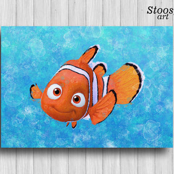 nemo print finding nemo art finding dory decor nursery nautical disney poster