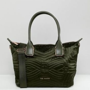Ted baker quilted bow mini tote bag at asos.com