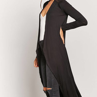 Jersey Knit Draped Duster Cardigan