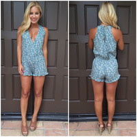 Harmony Floral Romper With Pockets