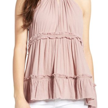 Sun & Shadow Tiered Gauze Tank | Nordstrom