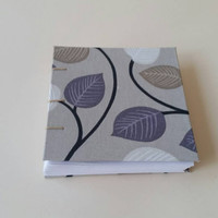 Handmade leafy cover notebook