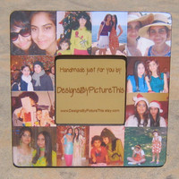 """Personalized Bridesmaid Picture Frame, Custom Collage Maid of Honor Frame, Wedding Photo Frame, Parent Gift 8"""" x 8"""""""