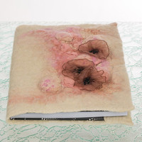 """Felted covers """" Rouge"""" with notebook, refillable"""