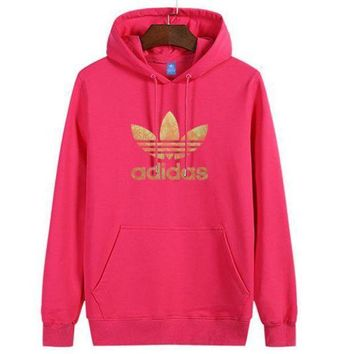 Adidas Women Man Fashion Print Sport Casual Top Sweater Pullover Hoodie