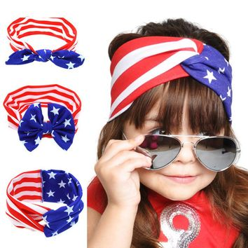 Cotton Twisted American Flag Headband