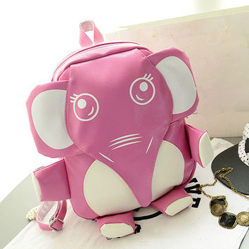 Kawaii Elephant Backpack