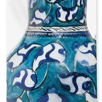 An Ottoman Iznik Style Floral Design Pottery Jug Polychrome, By Adam Asar, No 16v - Bath Towel