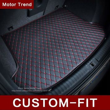 Custom fit car trunk mat for BMW 3/4/5/7 Series GT M3 X1 X3 X4 X5 X6 Z4 3D car-styling all weather tray carpet cargo liner