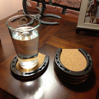 Horseshoe and Cork Coasters