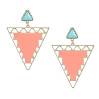 Multicolor Cut Out Geometric Earrings