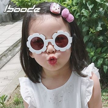 iboode Vintage Baby Sunglasses Kids Flowers Shaped Sun Glasses Retro UV400 Protection Sunglasses For Children Girl Boy Gifts