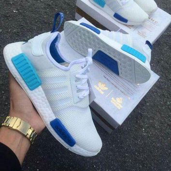 VON3TL Adidas NMD R1 Blue Glow City Pack Sao Paulo S75235 -01 Boost Sport Running Shoes Classic Casual Shoes Sneakers