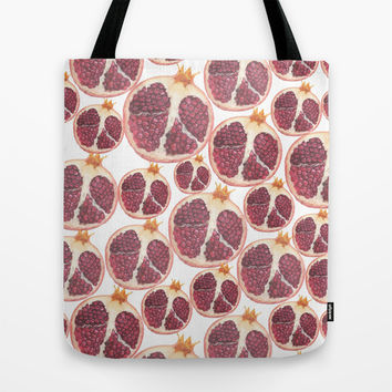 pomegranate Tote Bag by Austeja Saffron