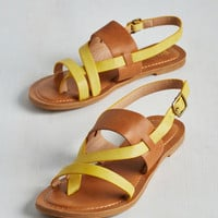 Colorblocking Gait and Good Sandal by Restricted from ModCloth