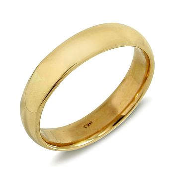 Men's 6.0 mm Wide 14k SOLID GOLD Traditional Comfort Fit Band