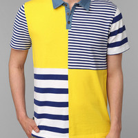 Hawkings McGill Striped Colorblock Polo Shirt